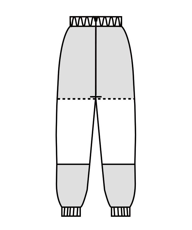 パンツ(総ゴム+ヒモ付)[男女兼用][住商モンブラン製品] RS7711