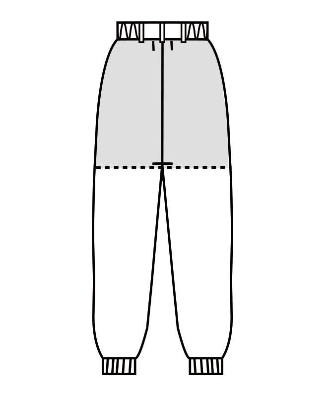 制電トロピカルパンツ(ツータック・両脇ゴム)[男女兼用][住商モンブラン製品] 7-52