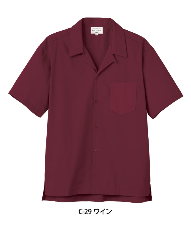 ストレッチブロードシャツ半袖[男女兼用][チトセ製品] EP8602