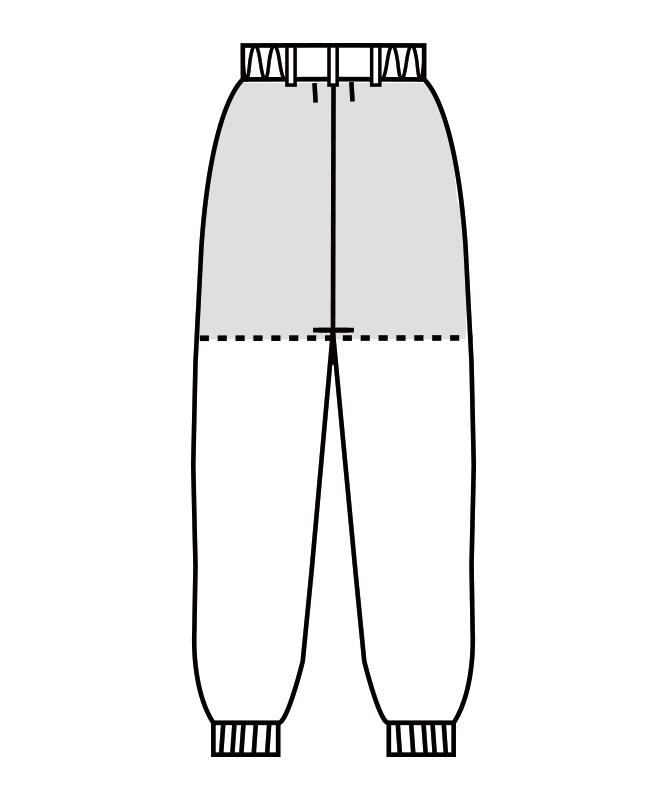 制電交織タッサーパンツ(ツータック・両脇ゴム)[男女兼用][住商モンブラン製品] 7-531