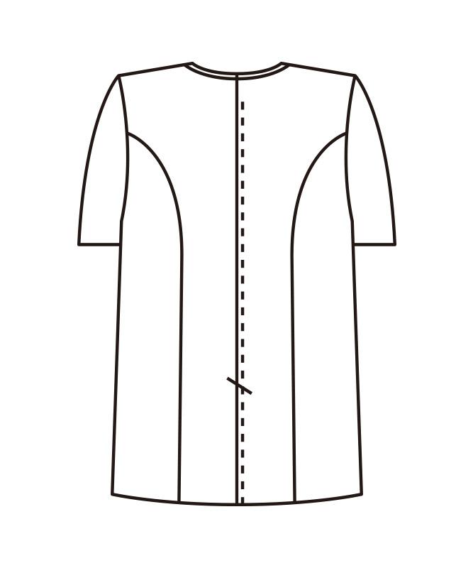 調理衣半袖[女子][KAZEN製品] 662-3