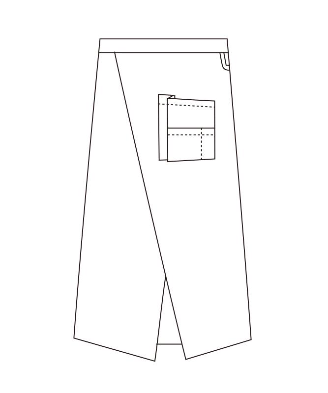 ソムリエエプロン[男子][チトセ製品] T8094
