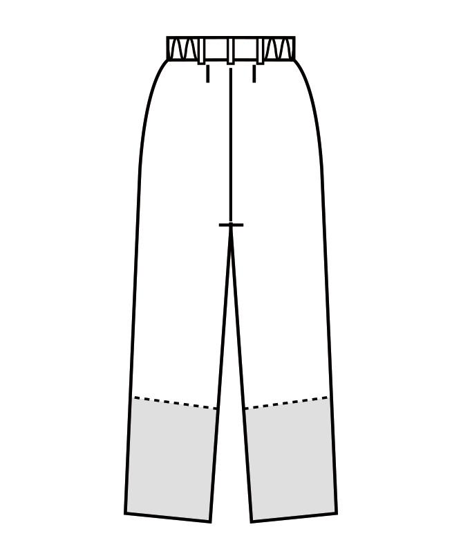 制電双糸ツイルパンツ(ツータック・両脇ゴム)[男女兼用][住商モンブラン製品] 7-541