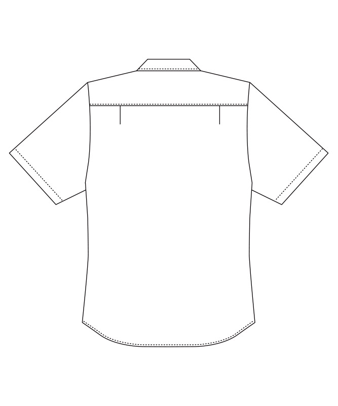 オックスボタンダウンシャツ半袖[男女兼用][チトセ製品] EP8604