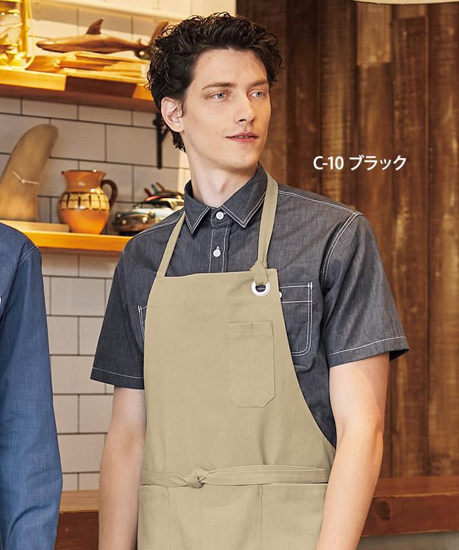 ダンガリーシャツ半袖[男女兼用][チトセ製品] EP8606