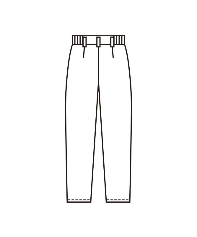 レディースパンツ(ツータック)[KAZEN製品] APK1984