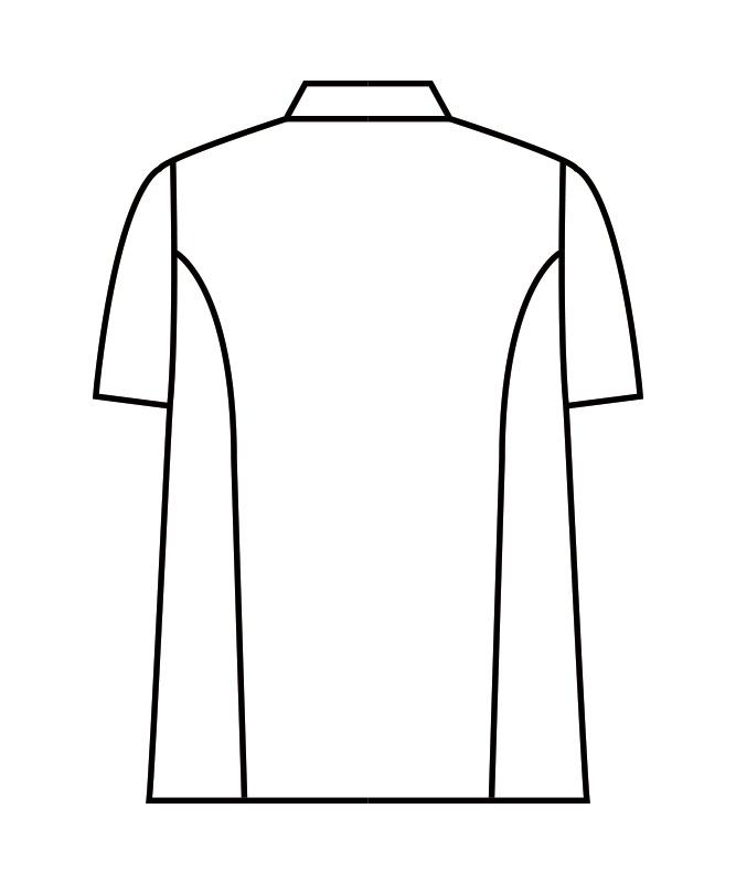 制電交織ツイルコックコート半袖[男女兼用][住商モンブラン製品] RT6622-2
