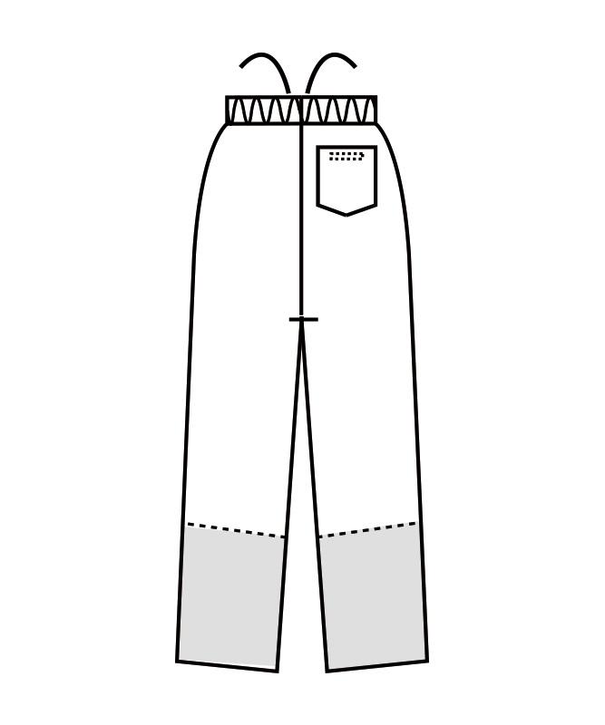 制電交織ツイルパンツ(総ゴム+ヒモ付)[男女兼用][住商モンブラン製品] 7-58