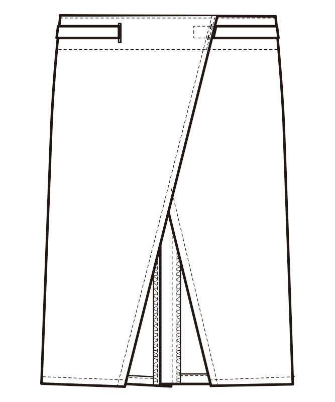 腰下エプロン[男女兼用][セブンユニフォーム製品] CT2351