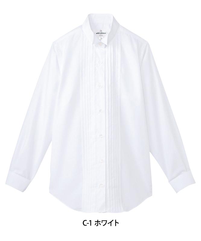 ピンタックウィングカラーシャツ長袖[女子][チトセ製品] KM4091