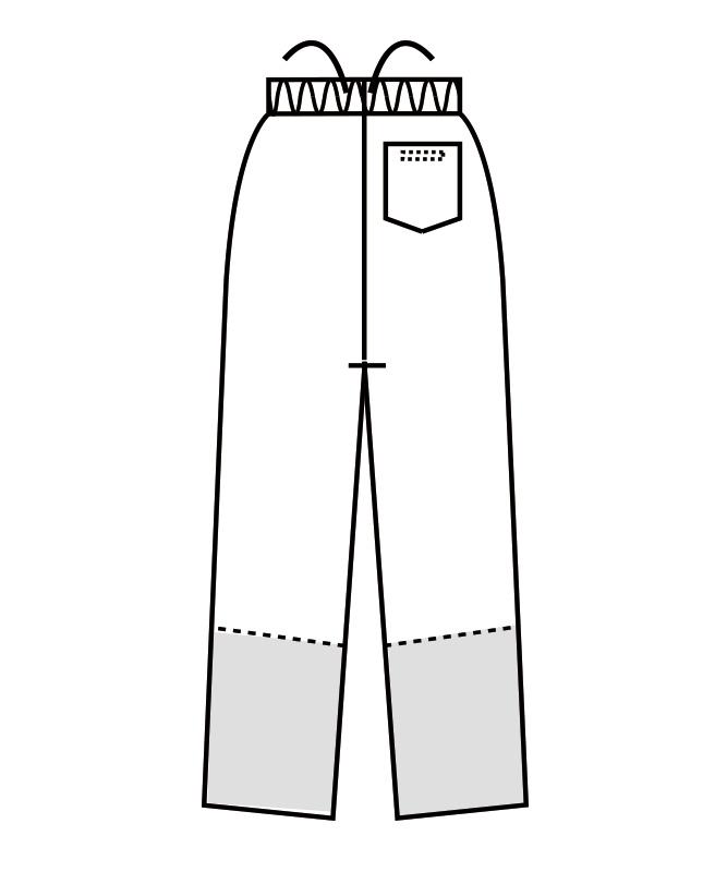 制電双糸ツイルパンツ(総ゴム+ヒモ付)[男女兼用][住商モンブラン製品] 7-59