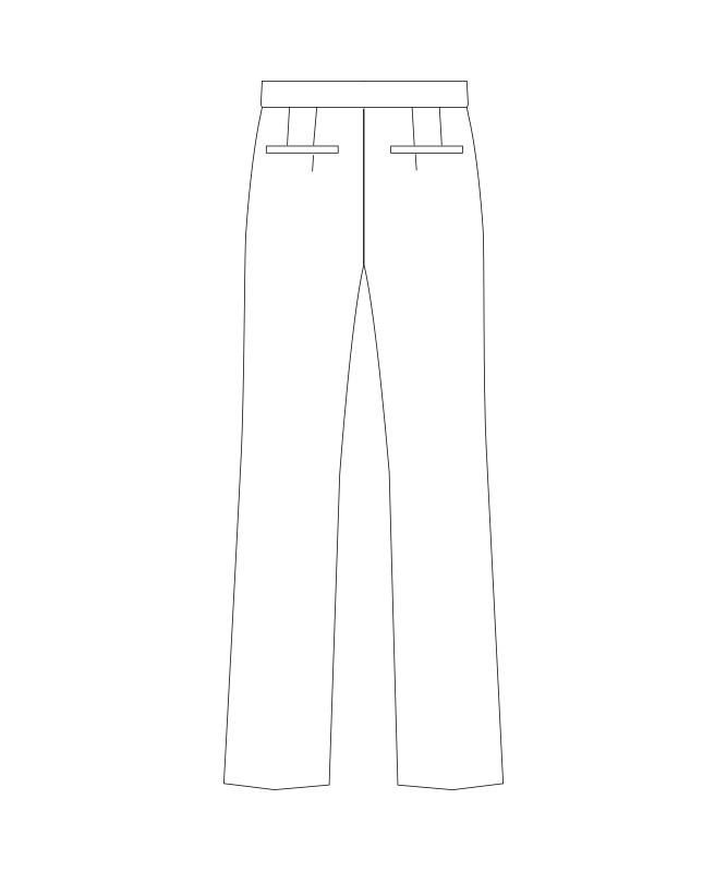 ストレッチパンツ(ノータック)[女子][チトセ製品] KM8400