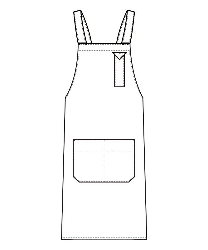 胸当エプロン[男女兼用][セブンユニフォーム製品] CT2354
