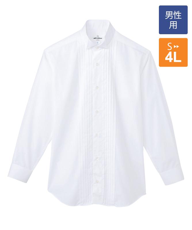 ピンタックウィングカラーシャツ長袖[男子][チトセ製品] KM4092