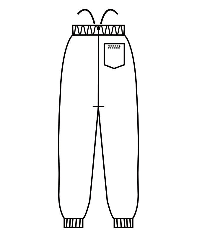 制電双糸ツイルパンツ(総ゴム+ヒモ付)[男女兼用][住商モンブラン製品] 7-599