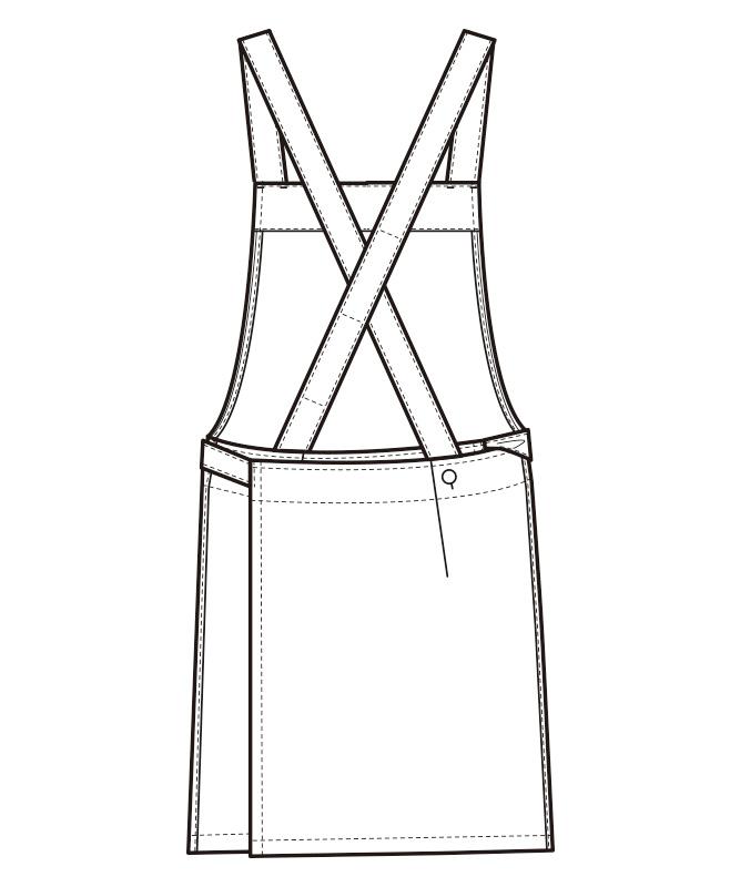 胸当エプロン[男女兼用][セブンユニフォーム製品] CT2398