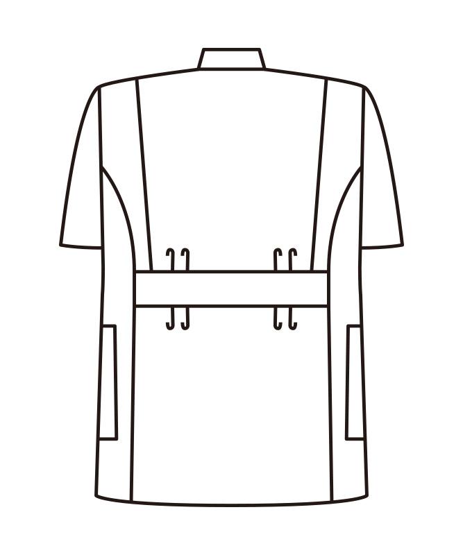 ブロードメンズ横掛け半袖[KAZEN製品] 132-3