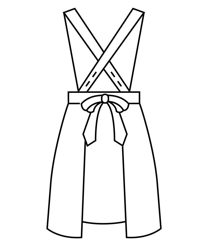 二重織シャンタンエプロンレディス[住商モンブラン製品] 5-25