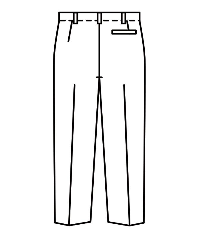 スラックスメンズ(ノータック)[住商モンブラン製品] 7-611