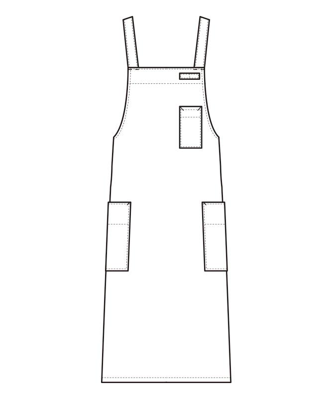 胸当エプロン[男女兼用][セブンユニフォーム製品] CT2566