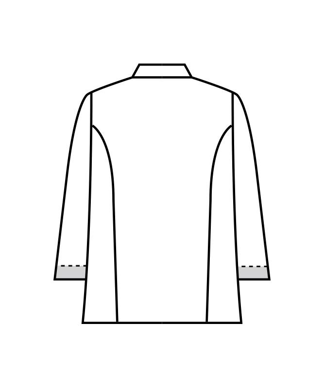 コックコート七分袖(袖口ネット付)[男女兼用][住商モンブラン製品] 6-441
