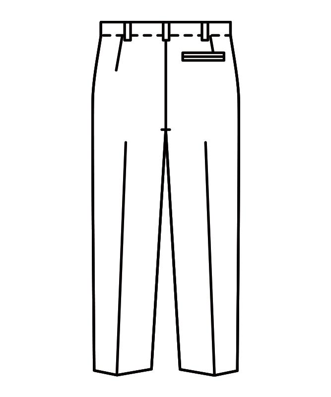 紺縞スラックスメンズ(ノータック)[住商モンブラン製品] 7-621