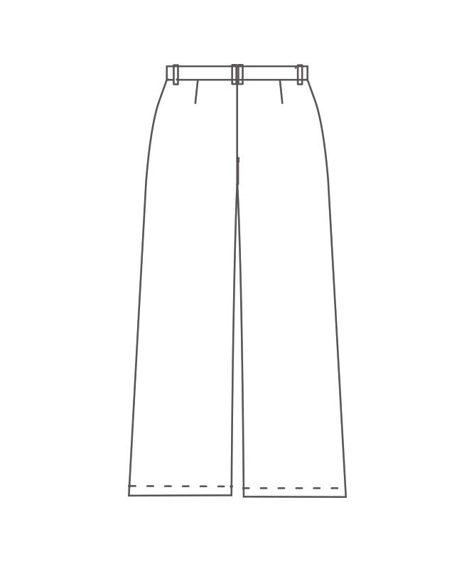ワイドパンツレディス[住商モンブラン製品] BW7504