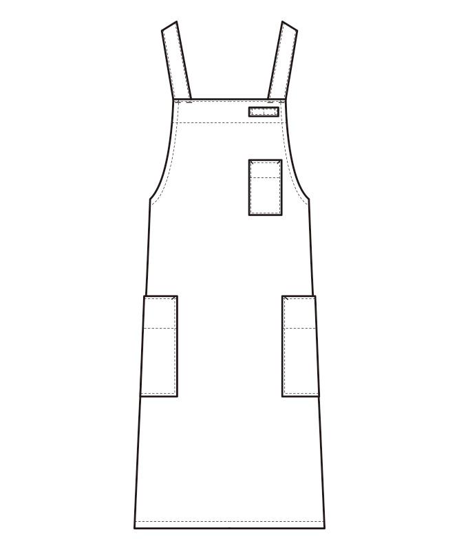 胸当エプロン[男女兼用][セブンユニフォーム製品] CT2572
