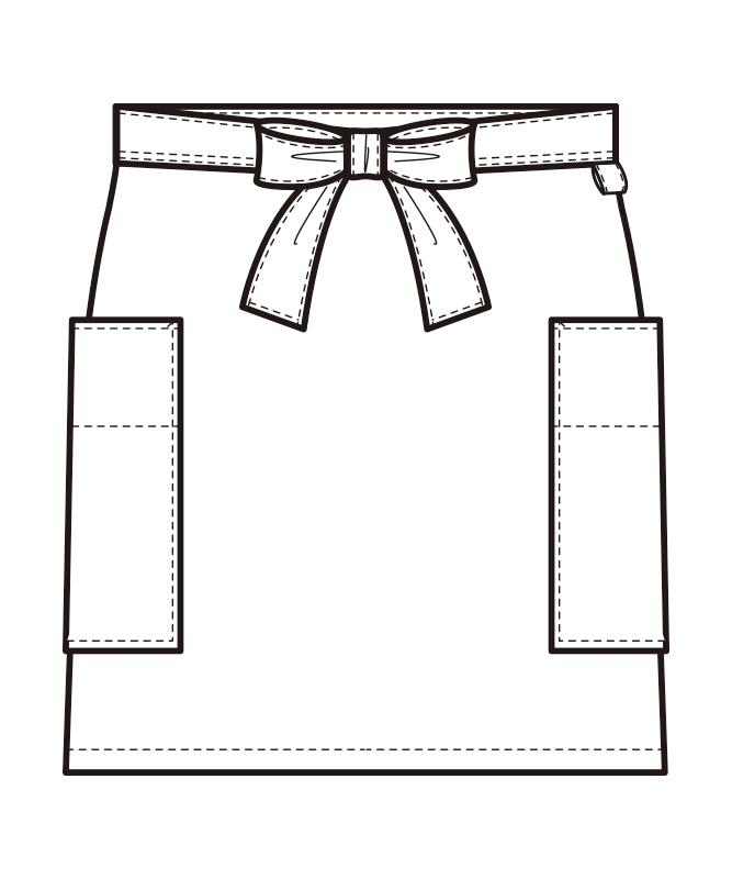 ショートエプロン[男女兼用][セブンユニフォーム製品] CT2573
