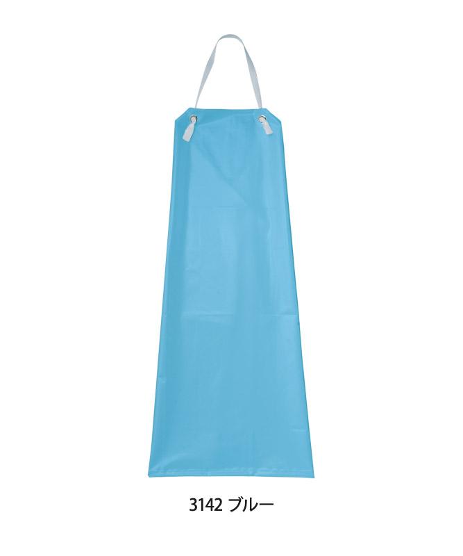 胸当てエプロン丈長[KAZEN製品] APK314