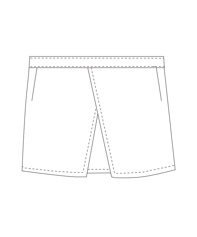 ショートエプロン(ヒッコリー)[チトセ製品] T8258