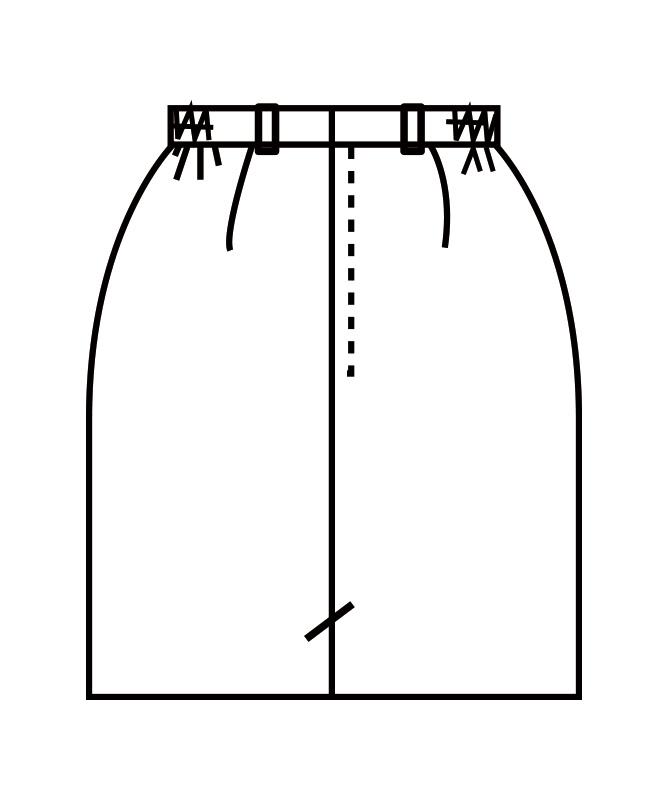 スカートレディス(両脇ゴム)[住商モンブラン製品] GS7211-1