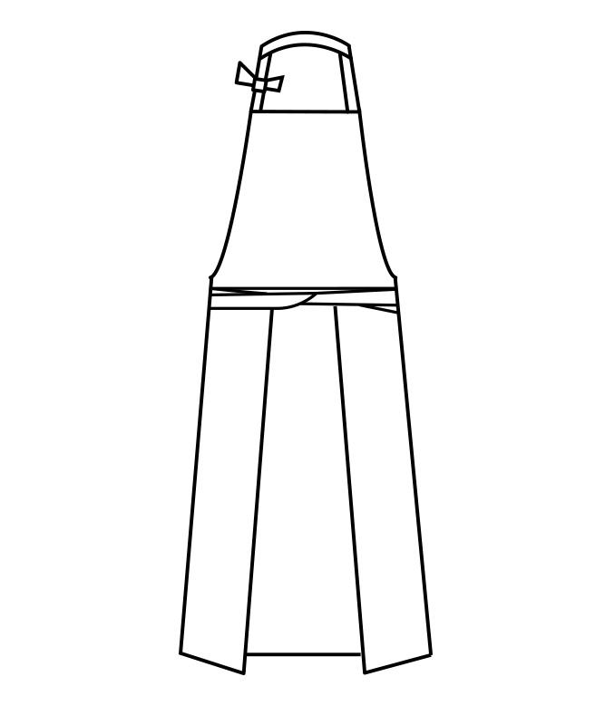 シルキーソフトエプロン[男女兼用][住商モンブラン製品] 5-56