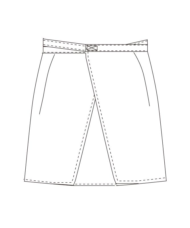ショートエプロン(デニム)[チトセ製品] T8260