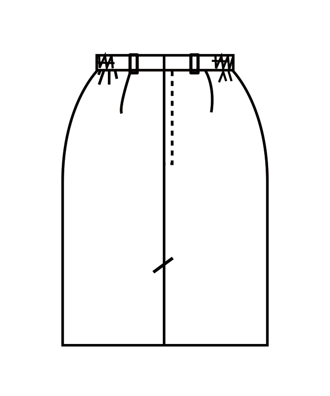スカートレディス(両脇ゴム)[住商モンブラン製品] GS7221-1