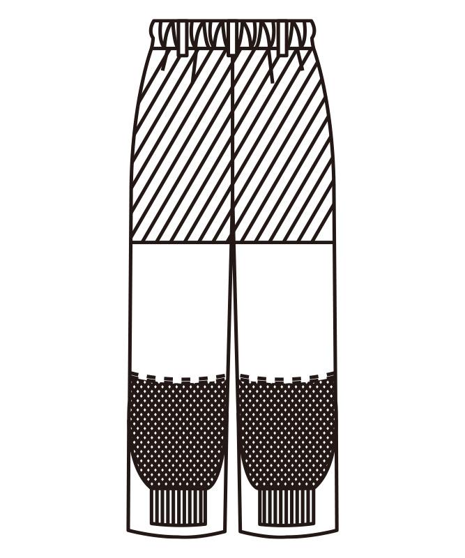 単糸ツイルレディスパンツ[KAZEN製品] 821-40