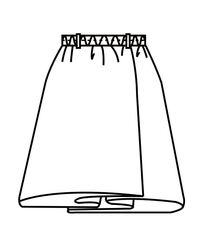 ラップキュロットレディス(半ゴム・横ファスナー)[住商モンブラン製品] GS7401-1