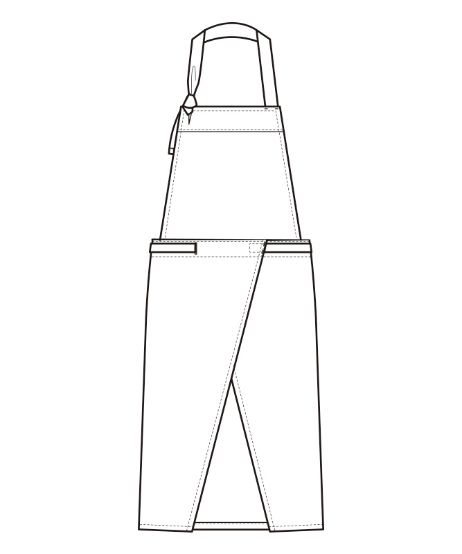 胸当エプロン[男女兼用][セブンユニフォーム製品] QT7355