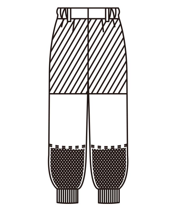 エコ・ウェルシーレディスパンツ[KAZEN製品] 821-60