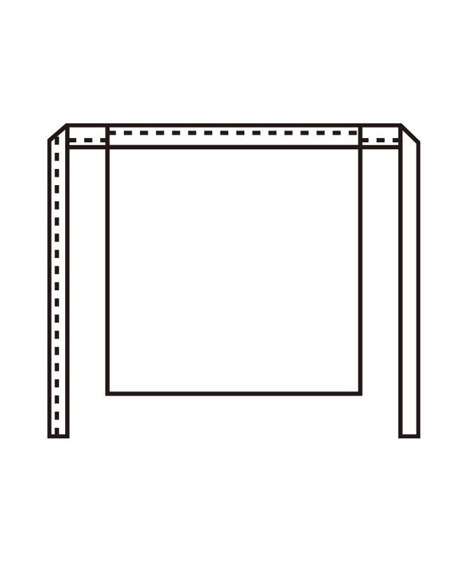 腰下エプロン[KAZEN製品] APK317