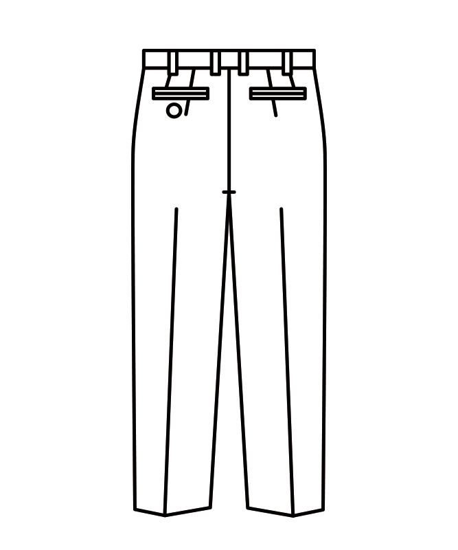 スラックスメンズ(ツータック)[住商モンブラン製品] 7-683