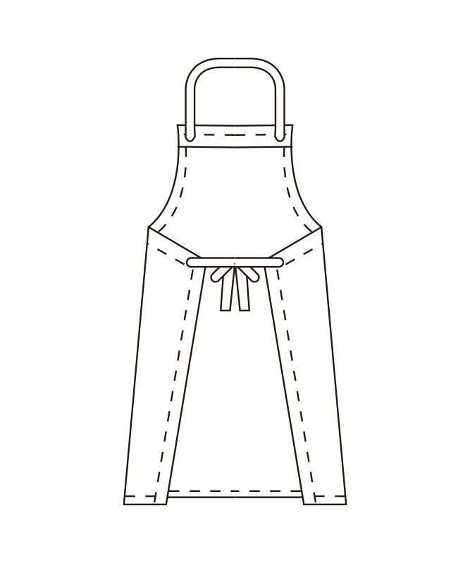 胸当てエプロン[KAZEN製品] APK31