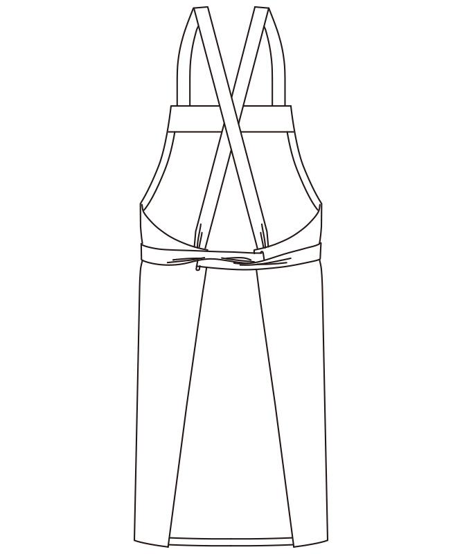 デニム胸当てエプロン(X型)[男女兼用][ボンマックス製品] FK7154