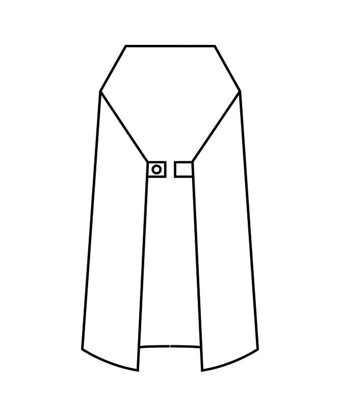 防水エプロン(ワンタッチ)[住商モンブラン製品] UA-2