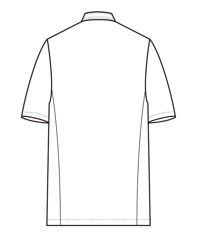 コックコート半袖[男女兼用][セブンユニフォーム製品] AA499