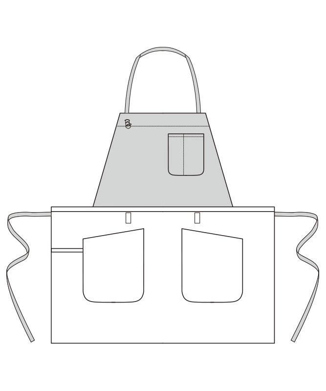 2WAYエプロン[男女兼用][ボンマックス製品] FK7158