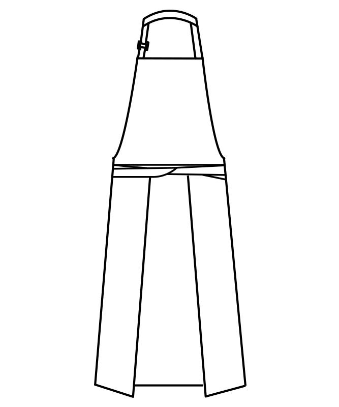 千鳥格子エプロン[男女兼用][住商モンブラン製品] 5-701