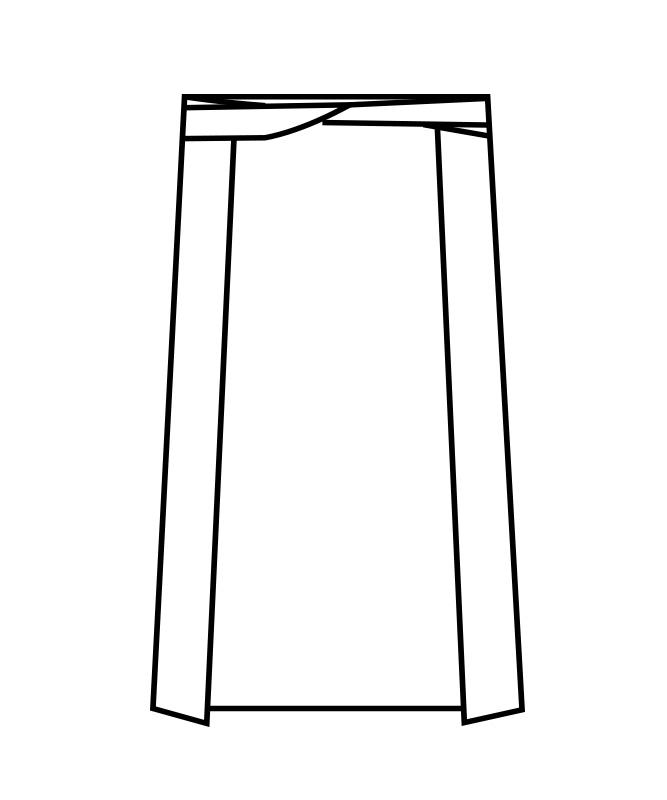 腰下前掛中丈[男女兼用][住商モンブラン製品] 9-36