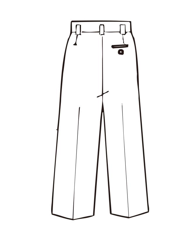 ストライプコックズボン[男子][チトセ製品] AS119