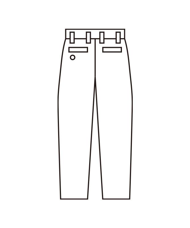 メンズスラックス(ツータック)[KAZEN製品] APK4053